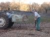 Le tracteur avec sa bennette
